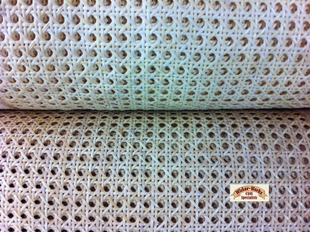"1/2"" open weave semi bleached and natural rattan webbing"